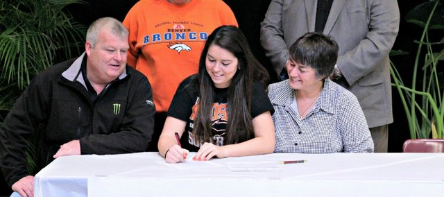 Candice Jennings will continue her softball career next season at Neosho County Community College.