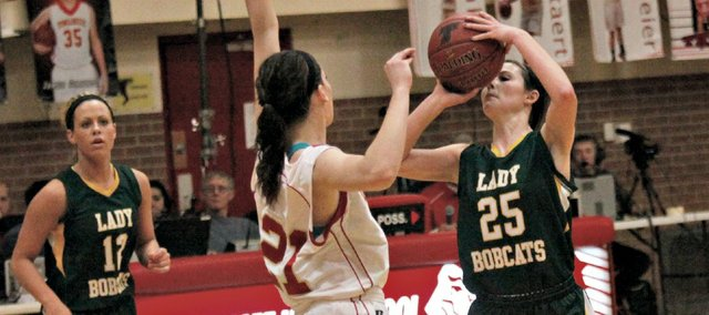 Madison McDowell had a game-high 15 points in Basehor-Linwood's 47-37 win Tuesday at Tonganoxie.