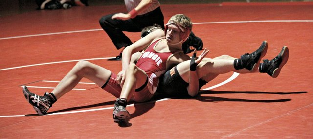 Garrett Martin was one of two Chieftains to record a win in a dual Thursday against Bonner Springs.