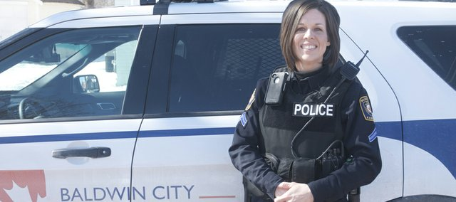 Baldwin City Police Department Corp. Kim Springer has been with the department nine years.