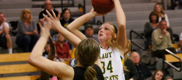 Victoria Smith had a team-high 16 points Tuesday in Basehor-Linwood's 54-51 loss to Lansing.