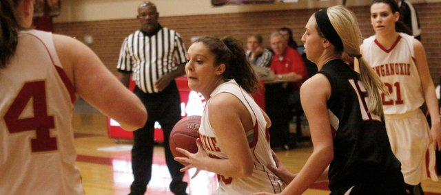 Kara Banks had a career-high 20 points in Tonganoxie's 59-50 win Thursday against Lansing.