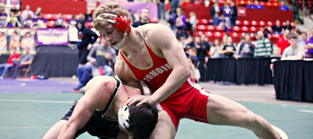 Asher Huseman can become Tonganoxie's first-ever state wrestling champion Saturday in Salina.