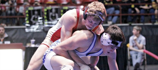 Asher Huseman became just the second Tonganoxie wrestler to reach the state finals Saturday in Salina.