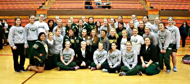 The Basehor-Linwood girls powerlifting team won its seventh consecutive state title Saturday in Abilene. The Bobcats won individual titles in seven of 10 weight classes.