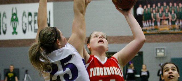Katelyn Waldeier scored 15 points Thursday against Piper, but Tonganoxie's season came to an end with a 63-47 loss.