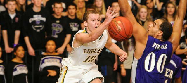 JP Downing is one of three Basehor-Linwood players with significant state tournament experience. Downing and fellow senior Chase Younger started on the Bobcats' 2012 state championship team.