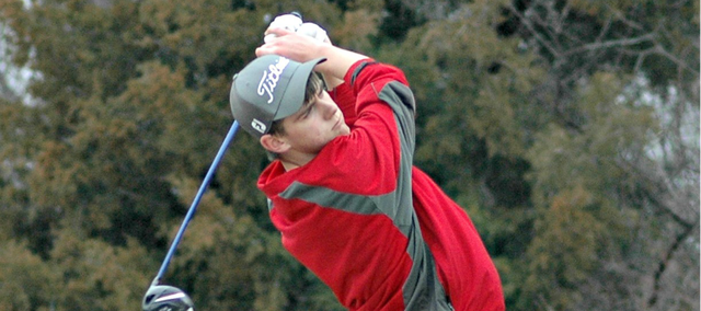 Drew Sandburg is the only returning starter from last year's Tonganoxie High golf team.