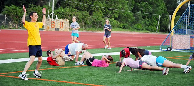 Douglas County was found to be the eighth healthiest county in the state in a national survey released Wednesday, in part because the its residents exercise, such as these Baldwin City residents participating a recent summer's Bulldog Days.