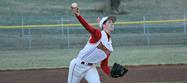 Travis Woods had a complete game in Thursday's season-opener against Bishop Ward.