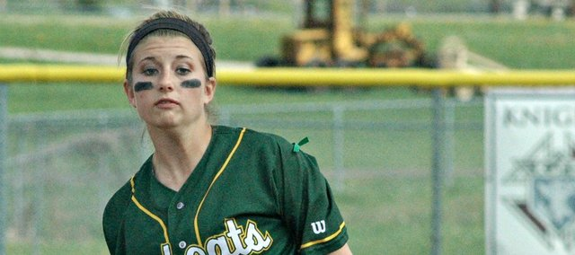 Asia Larsen is one of several returning varsity players on the Basehor-Linwood softball team. The Bobcats have their eyes on a return to state after missing the cut in 2013.