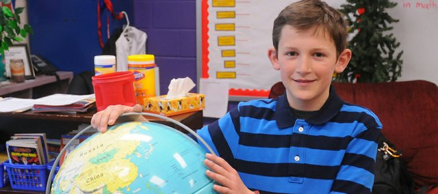 Fifth-grader Grady McCune will follow up his BESIC geography bee championship with a trip Friday to Abilene to compete in the state competition.