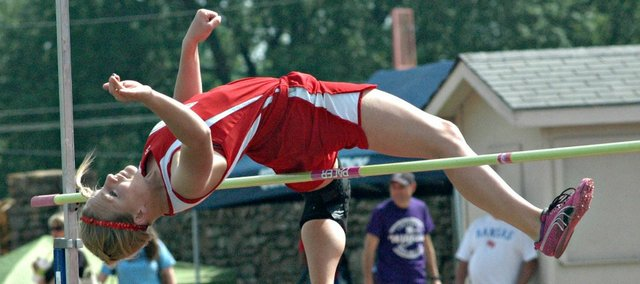 Haley Griffin is one of three returning state qualifiers on the Tonganoxie High track and field team. Griffin is a three-time top-10 finisher in the high jump.