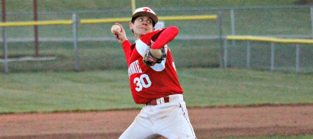 Brady Swedo pitched five innings and had an RBI double in Tonganoxie's 3-2 win Friday against Basehor-Linwood.