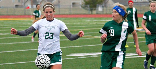 Nicole Rutherford and the BLHS girls soccer team struggled to find offense in a 2-0 loss to De Soto.