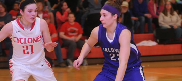 Baldwin High School senior Katie Jones was the lone Bulldog to gain Frontier League first-team recognition, although five others were named second team or were honorable mention selections.