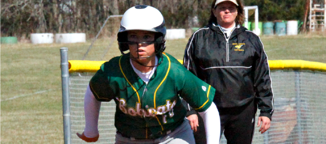 Candice Jennings' two-run double put BLHS in front for good in game two Thursday against Mill Valley. The Bobcats swept the Jaguars, 8-3 and 12-10.