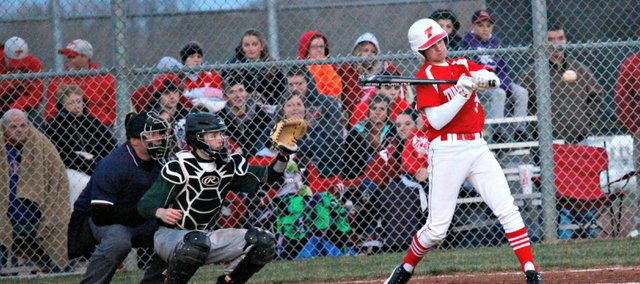 Connor Wentz-Hall and the THS baseball team swept Lansing on Thursday, 3-2 and 11-8.
