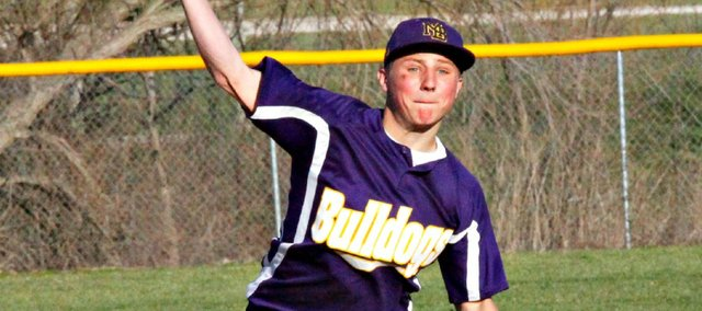 Jace Carlton and the McLouth High baseball team swept Leavenworth-Immaculata on Thursday.