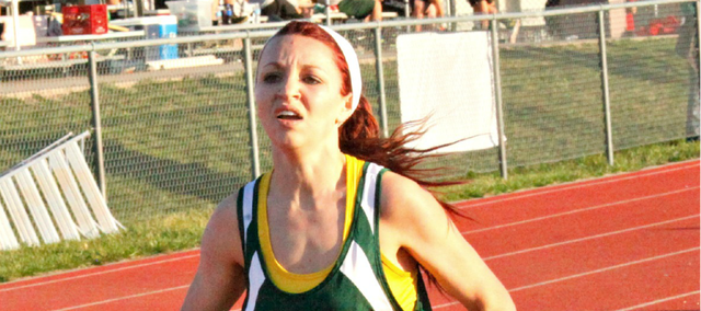 Quinnlyn Walcott broke the BLHS record in the 1,600-meter run Friday at the Bobcat Relays. Walcott now owns three school records.