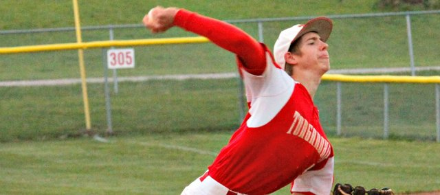 Travis Woods pitched a perfect game Tuesday in a 6-0 win against Bonner Springs.