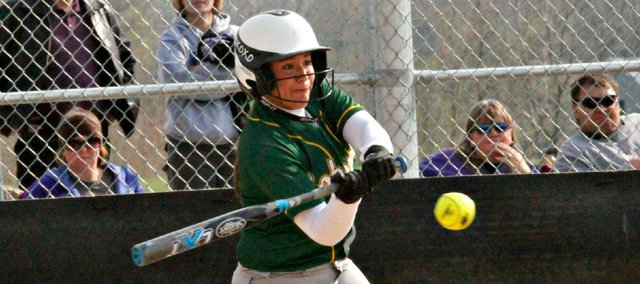 Kayleigh Schoenfelder's two-run single propelled BLHS to a 2-0 win Thursday against Piper. The Bobcats split a doubleheader with the Pirates, dropping the second game by the same score.
