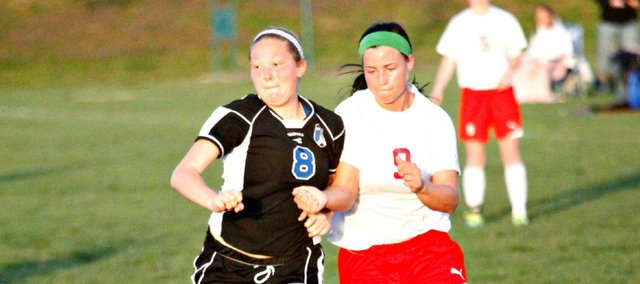 Madison Simmons and the THS girls soccer team won their second straight game Friday, defeating Leavenworth at home, 1-0.