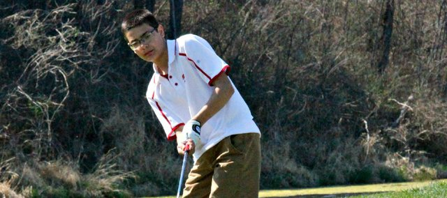 Matt Scharff helped the THS golf team to a sixth-place finish Monday at the Hayden Invitational.