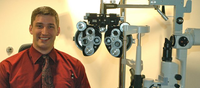 Optometrist Jonathan Reddell is leading the new location of Family EyeCare Center in Bonner Springs three days a week, Monday, Tuesday and Thursday. Reddell's wife, fellow optometrist Ashley Reddell, will be in the office on Wednesdays, and other doctors from the Leavenworth-based practice will provide hours in Bonner on Fridays and Saturdays.