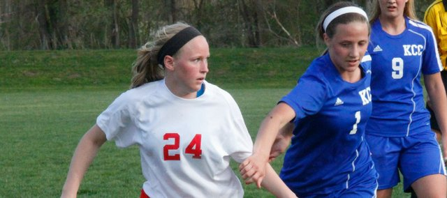 Kaitlin Hall and the THS girls soccer team saw its three-game win streak end Wednesday against KC Christian.