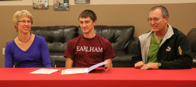 Tonganoxie High senior Evan Stilgenbauer will play soccer next season at Earlham College in Richmond, Ind.