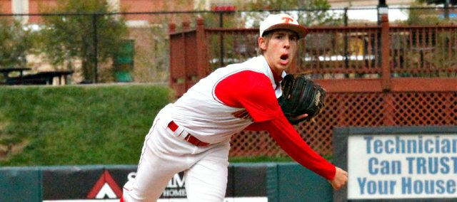 Travis Woods threw a complete-game shutout and hit a two-run single in a 3-0 win Thursday against Spring Hill.