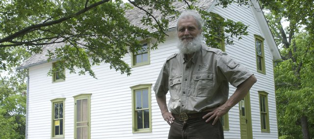Kerry Altenbernd, vice president of the Black Jack Battlefield Trust Inc., will portray John Brown during interactive tours Saturday at the battlefield 3 miles east of Baldwin City. The big news of the weekend is the expected reopening of the Robert Hall Pearson farmhouse after renovations to stabilize the structure.