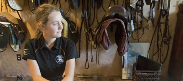 Fifteen-year-old Riese Wismer, a Baldwin High student, has found success in equestrian riding as her many ribbons show off her hard work though the years.