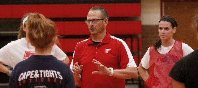Coach David Hall has taken over the Tonganoxie High girls basketball program. The Chieftains opened the hall era this week with a team camp at the high school.