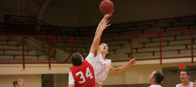 Carl Hecht is one of just three returning lettermen on the Tonganoxie High boys basketball team this season.