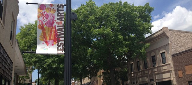 Banners purchased by the Bonner Springs Arts Alliance have been placed in the downtown area to promote the alliance's first Festival of the Arts June 28.