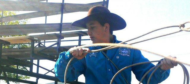 Cooper Phillips, an incoming eighth-grader at Tonganoxie Middle School, is competing in four national rodeo events this week in Des Moines, Iowa.