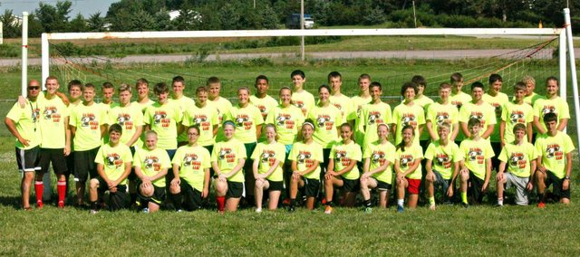 Several THS soccer players met last week at the high school field for the fifth annual Sokker Kamp.