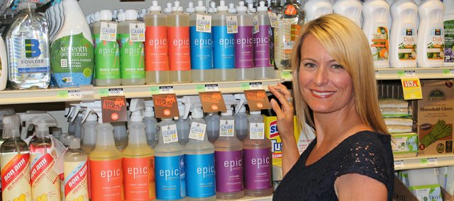Bonner Springs native Noelle Morris founded EPIC Cleaning Products in order to give all profits to environmental organizations. The line is now carried at both Whole Foods Market locations in Johnson County.