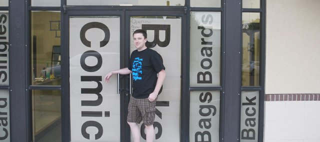 Gabreil Dorsey is opening Bulldog Games and Comics in downtown Baldwin City as a place comic book and gaming fans can enjoy the excitement for comic books he first discovered as an 8-year-old boy.