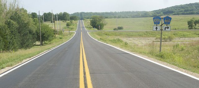 CR 1055 is slated to close March 23 as a season's worth of work starts on the popular route from Baldwin City to Lawrence. The addition of asphalt shoulder at the intersections of county roads 1055 and N. 600 Road will be one of the safety improvements to 1055 north of Baldwin City to Vinland slated to be completed next year.