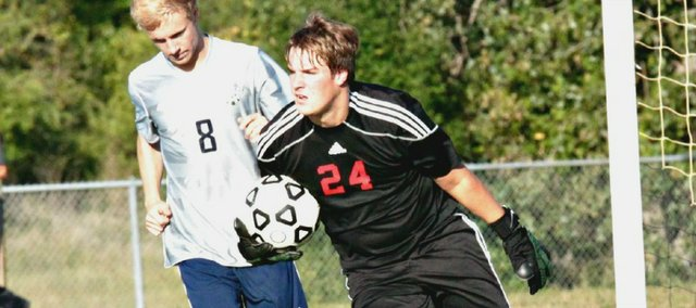 Tonganoxie goalkeeper Alex Kroll recorded back-to-back shutouts on Thursday and Friday.