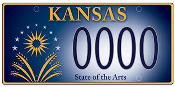 This is the new Kansas personalized license plate for 2015.