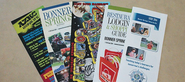 A number of pamphlets promoting Bonner Springs attractions can be found around town, and the city's Convention and Tourism Committee also contracts with a company that places them at hotels and other attractions in the region.