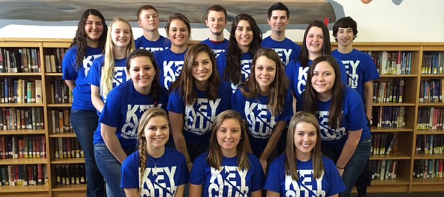 The Bonner Springs-Edwardsville Kiwanis Club helped establish a Key Club (student members pictured above) at Bonner Springs High School this school year. The Kiwanis will have their annual pancake breakfast fundraiser Saturday at BSHS.