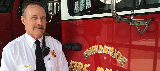 Jack Holcom is the new Tonganoxie City fire chief. He started Feb. 2, 2015, after 26 years with the Olathe Fire Department.