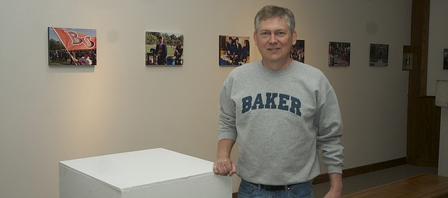 A show of photos Baker University public relations director Steve Rottinghaus has taken his 10 years on the job will fill Parmenter Hall's Holt-Russell Gallery. The show opens Wednesday and will run through May 17.