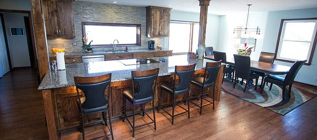 A kitchen and dining area recently remodeled by Julie Baker.