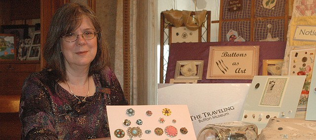 Using pieces from her own collection, Lise McIntyre started The Traveling Button Museum shortly after moving to Bonner Springs.